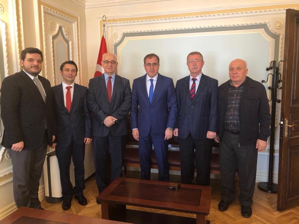 İstanbul vali yardımcısı Şahin Aslan'ı ziyaret ettik